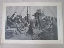 Vintage Print,MERRY CHRISTMAS SIBLEY TEPEE,Harpers,c1880,Remington