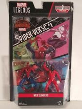 Marvel Legends Series Web Slingers W/Comic Book Secret Wars Spider-Verse 3.75""