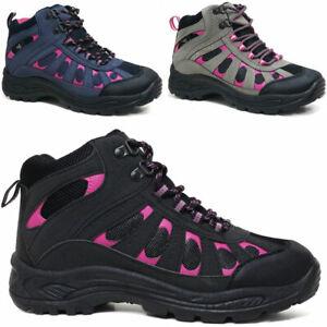Ladies Hiking Boots Women Ankle Lightweight Trekking Trail Trainer Walking Shoes