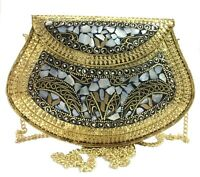 Indian Ethnic Clutch Gift Women Metal Bag Metal Clutch Vintage traditional purse