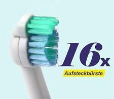 16 x Ersatzbürstenköpfe für Philips Sonicare, Sensiflex, Aufsteckbürsten HX2012