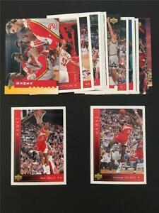 1993/94 Upper Deck Atlanta Hawks Team Set 16 Cards