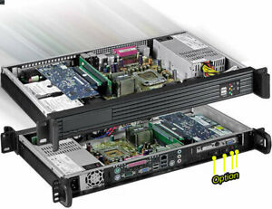"""1U ITX(3.5"""" Open or 2x2.5"""" HD)"""") (Riser Case)(Rackmount Chassis)(Depth:9.84) NEW"""