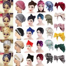 Hot Donna Elasticizzato Bandana Hijab Turbante Fascia Cappello Moda Headwrap