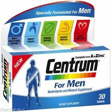 2x Centrum For Men Vitamin Tablets A to Zinc Multi Vitamins - 2 Months Supply