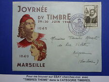 LOT 12599 TIMBRES STAMP ENVELOPPE JOURNEE DU TIMBRE FRANCE ANNEE 1946