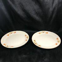 """Pair of Vintage Jewel Tea Hall Autumn Leaf 7-1/4"""" Side Plates"""