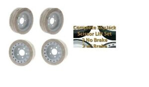4 SET,SKYJACK 158438/158439,FRONT/REAR NON MARKING TREAD, MOULD ON WHEELS