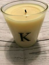 Monograms Archipelago K keylime & Neroli Soy Candle with Box Partial Burn