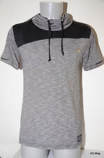 Jolie Tee-Shirt Homme avec Col - ENZO DI CAPRI - Gris + Noir - Taille XL - NEUF