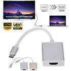 Type C USB 3.1 to USB-C 4K 1080p HDMI TV Adapter Cable Hub For Macbook Accessory