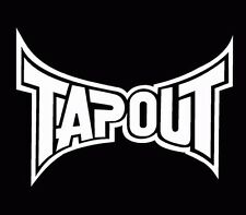 Tapout UFC MMA Decal Window Sticker Car Truck White V2