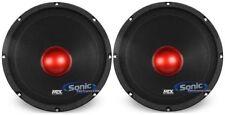"2 MTX Thunder RTX108 10"" 1000w 8-Ohm Mid-bass/Midrange Car/Pro Audio Speakers"