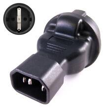 1x Kaltgeräte Adapter mit CEE 7/3 Schuko Kupplung an C14 Stecker IEC 60320-C14