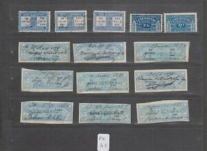 PC 33 _ Luxembourg. A great selection of 14 Revenue Stamps.