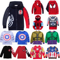 Niñas Bebés Spiderman Niño Iron Man Camiseta Suéter Sudaderas Capucha Trajes