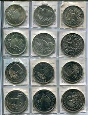 ENDANGERED WILDLIFE 1974/1979 - Alle 48 Münzen in Silber, stgl. - THAILAND WWF