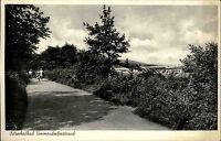 Ostsee Heilbad Timmendorfer Strand Schleswig Holstein s/w AK 1952 Spazierweg