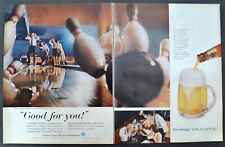 1958 Beer Belongs Bowling Vintage Print ADs US Brewers Foundation Good For You!
