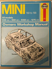 MINI HAYNES WORKSHOP MANUAL Inc' 850 clubman GT cooper & s van city hl 1969-1988