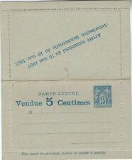 France 1887 15c Sage advertising letter card fine unused