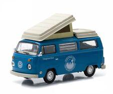 `72 VW T 2 Bus Westfalia Camper Blue Volkswagen *Greenlight 1/3000 ltd 1:64 RAR
