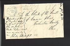MOUNT VERNON,OHIO 1838 STAMPLESS COVER,MS 20 RATE,KNOX CO. 1809/OP.