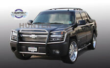 Fits 2002-2006 Chevy Avalanche 1500 (w/Cladding) Black Grille Brush Guards