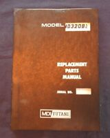 MDI YUTANI MD320B LC HYDRAULIC CRAWLER MT EXCAVATOR TRACTOR PARTS CATALOG MANUAL