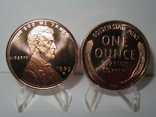 Lincoln Wheat Cent - Lot of 2 Copper Rounds .999