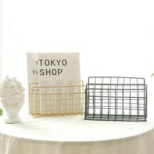 3 Layers Desktop Mail Organizer Grid Holder Nordic Style Newspaper Home Iron