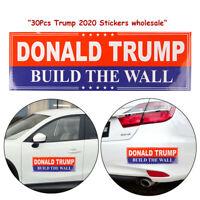 30 Pcs Lot Donald Trump 2020 Build The Wall US President Bumper Car Stickers aa