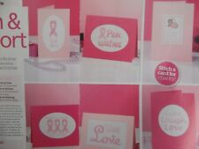 6 BREAST CANCER AWARENESS  CROSS STITCH CHARTS#507