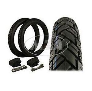 Reifen SET 2 Stück - Reifen 2 3/4x16 ,2 Schläuche + 2 Felgenbänder