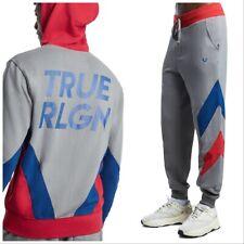 TRUE RELIGION Men's Chevron Panel Sweatsuit, Size XL