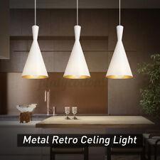 White  Metal Retro Decor Light Shade Industrial Ceiling Fixture Pendant Lampe US