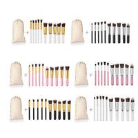 10pcs Makeup Cosmetic Brushes Set Powder Foundation Eyeshadow Lip Brush Tool New
