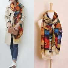 Fashion Women's Graffiti Long Scarves Soft Imitation Cashmere Wrap Shawl Scarf