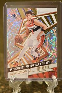 2020-21 Panini Revolution Deni Avdija Rookie Revolution Fractal SP Wizards