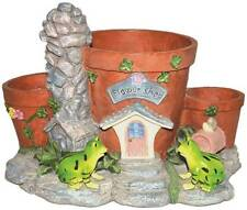 Gardenwize Garden Yard Patio Frog Planter Plant Flower Pot Ornament Decoration