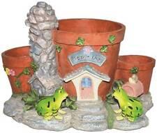 Gardenwize Garden Yard Patio Frog Planter Plant Flower Pot Ornament Decoration