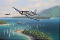 """Swashbuckler's Surpirse"" Jim Laurier Limited Edition Print - Corsair VMF-214"