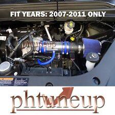 BLUE 2007-2011 GMC ACADIA CHEVY TRAVERSE 3.6 3.6L V6 RAM AIR INTAKE KIT + FILTER