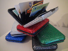 Brand New Diamante Bling Aluminium Credit Card Holder/Wallet/Business/I.D.Sale