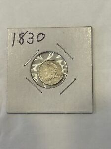 1830 90% Silver Capped Bust Half Dime   AF