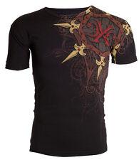 Xtreme Couture AFFLICTION Mens T-Shirt IRON Spikes Tattoo Biker Gym MMA 2XL $40