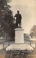 Clermont Iowa~David B Henderson Monument~Washington Speaker of House~c1912 RPPC