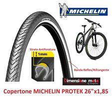 "Copertone MICHELIN PROTEK 26x1,85 Reflex+Antiforatura per Bici 26"" MTB Mountain"
