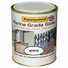 Supplyshed GLOSS WHITE GARAGE DOOR PAINT for Fibreglass and Metal 750ml