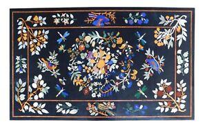 "48"" x 30"" Marble Coffee Table Top Inlay Handicraft home decor"